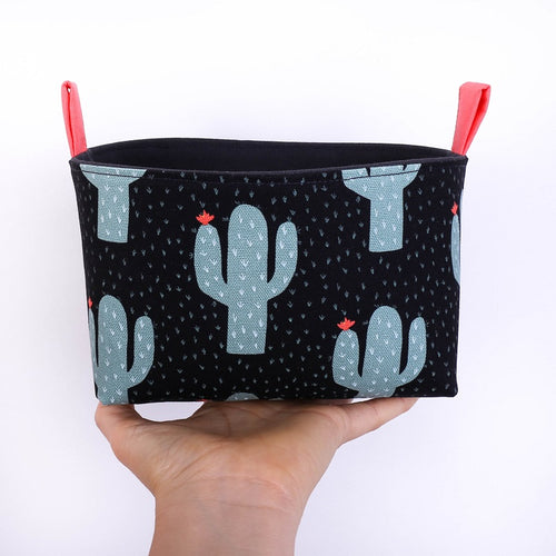 Tropical storage basket to organise your home - CACTI - Handmade on the Central Coast, NSW Australia by MIMI Handmade.
