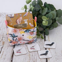 Load image into Gallery viewer, AustralianA nursery decorative baskets by MIMI Handmade Baskets | cockatoo Australian native birds