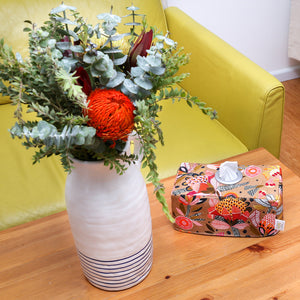 TERRACOTTA KING PROTEA - Burnt Orange Australiana Tissue Box Cover