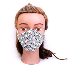 Load image into Gallery viewer, black-and-white-reusable-comfortable-washable-triple-layer-fabric-face-masks,-handmade-in-Australia-by-MIMI-Handmade