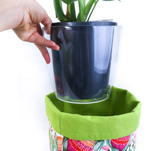 clear 18cm plastic pot for fabric plant pot covers