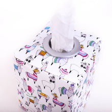 Load image into Gallery viewer, close-up modern white  llama tissue box