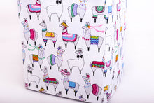 Load image into Gallery viewer, close-up small party llama tissue box cover