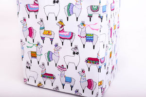 close-up small party llama tissue box cover