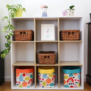 happy storage baskets for cube shelves
