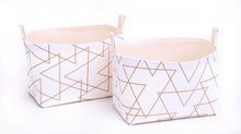 Load image into Gallery viewer, Set of 2 SOPHISTICATED GOLD Baskets
