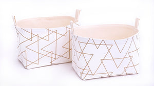 Set of 2 SOPHISTICATED GOLD Baskets