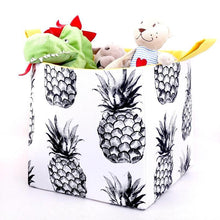 Load image into Gallery viewer, PINA COLADA - Large Cube Storage Basket 27cm x 27cm