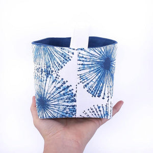 MIMI Handmade - FIREWORKS - Fabric Storage Baskets/Coastal Décor Blue Decorative Basket - MIMI Handmade Baskets