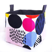 Load image into Gallery viewer, Fun storage basket to organise your kid room & home - POP OF COLOUR - Handmade on the Central Coast, NSW Australia by MIMI Handmade.