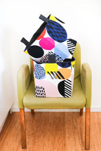 Load image into Gallery viewer, Large storage basket with handles to organise your kid room & home - POP OF COLOUR - Handmade on the Central Coast, NSW Australia by MIMI Handmade.