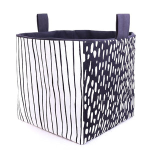 Large Cube Storage Basket - INDUSTRIAL (black)