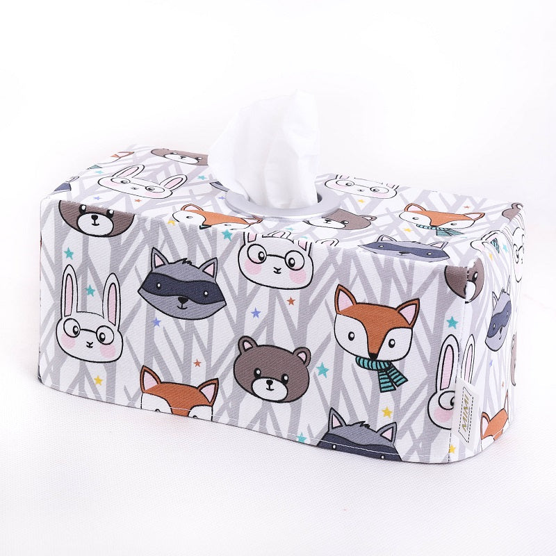 2 left in stock! Tissue Box Cover - WOODLAND FRIENDS