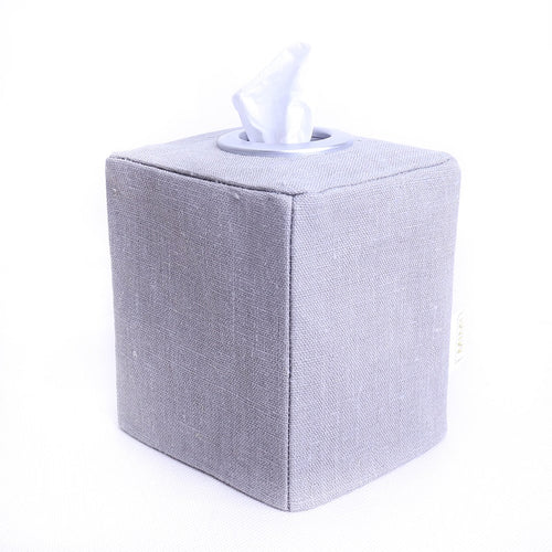 Tissue Box Cover - GREY LINEN