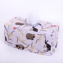 Load image into Gallery viewer, Only 1 left! WILDLIFE FRIENDS - Rectangular Fabric Tissue Box Cover