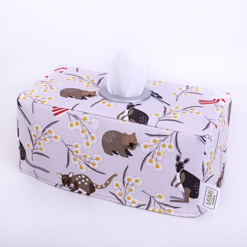 Only 1 left! WILDLIFE FRIENDS - Rectangular Fabric Tissue Box Cover