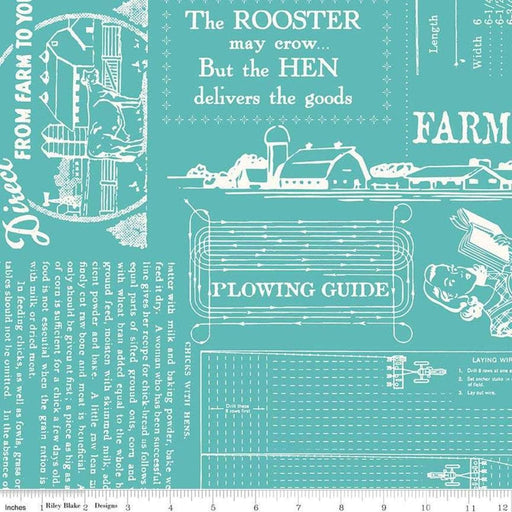 "108 Wide Bee Backings! - REMNANT PIECES Quilt Back Fabric - Riley Blake - by Lori Holt - 108"" wide Farm Girl Vintage - Farm Life WB7887-COTTAGE - RebsFabStash"