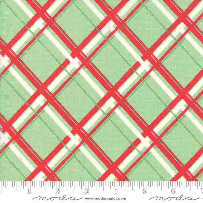 NEW! Deer Christmas - per yard - by Urban Chiks for Moda - Bells Peppermint - 31163 12