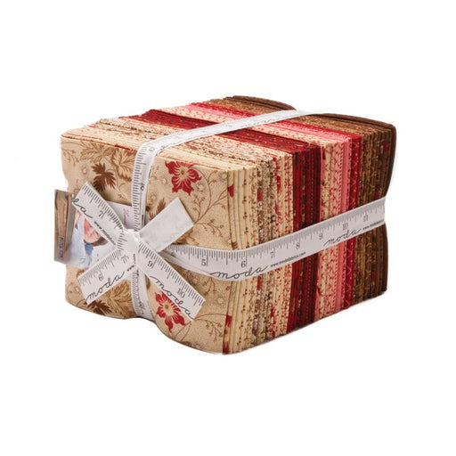 "New! Early Release! Harriets Handwork -Fat Quarter Bundle -Moda -Betsy Chutchian (38) 18"" x 22"" pieces -1820-1840 Burgundy, brick red, brown, floral"