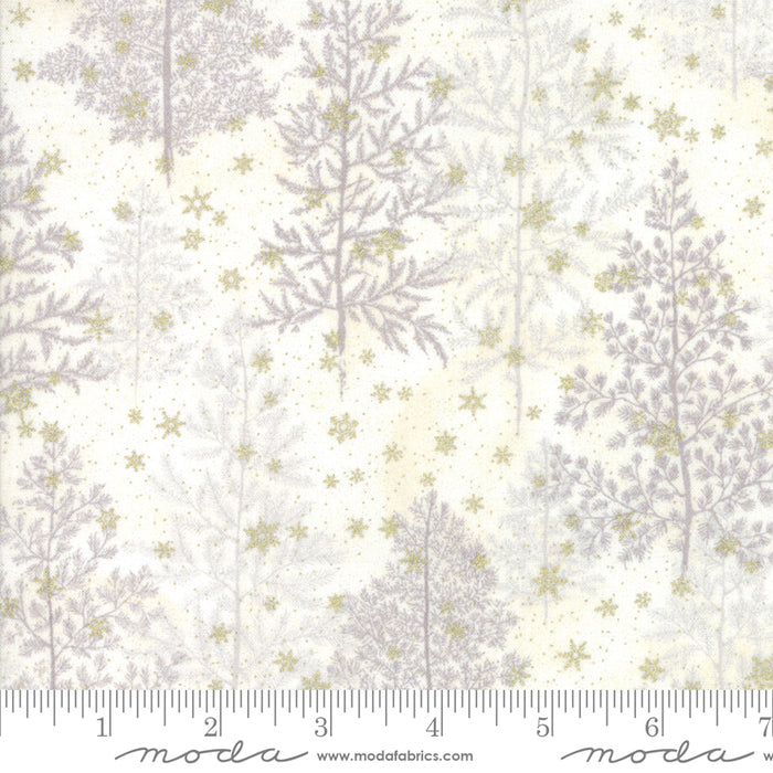 NEW! Forest Frost Glitter - per yard - by MODA - Trees Snow - 33520 12MG