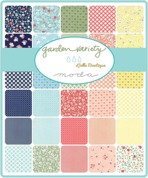 "Early Release! Garden Variety - Charm pack - (42) 5"" squares - Lella Boutique - MODA - Quilting/Sewing Fabric - RebsFabStash"