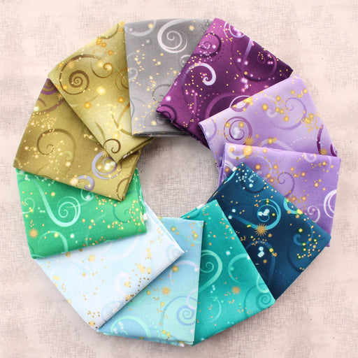 Swirling Sky - PROMO Fat Quarter Bundle (11) - Maria Kalinowski - Dance of the Dragonfly - Benartex - Kanvas