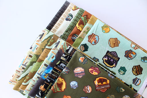 National Parks Collection - PROMO Fat Quarter Bundle (14 + Panel) - Riley Blake Designs