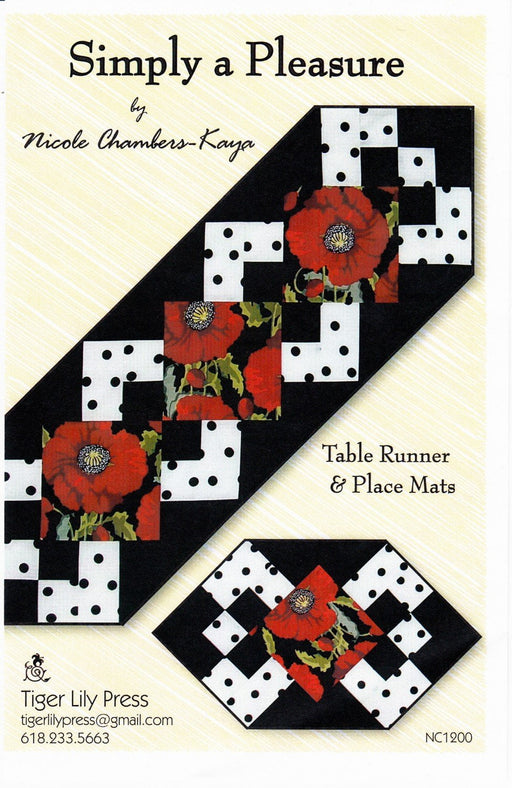 Simply a Pleasure - Table Runner & Place Mat pattern - Tiger Lily Press - TLP1200 - RebsFabStash