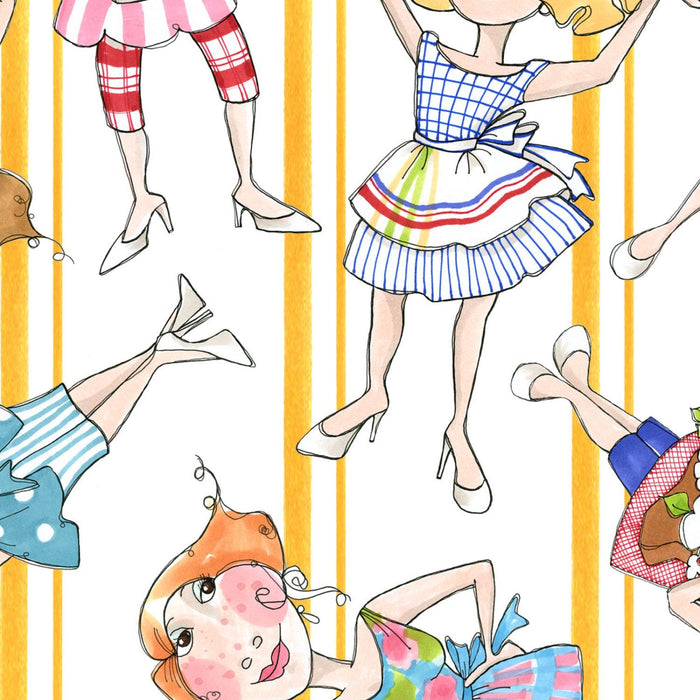 Apronesque PANEL - Loralie Harris Designs - Cute Apron or kitchen fabric 692-135 - RebsFabStash