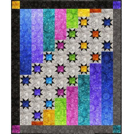 Aurora Nights Quilt Kit - Bohemian Rhapsody - Dan Morris - Quilting Treasures - Options for backing! - RebsFabStash