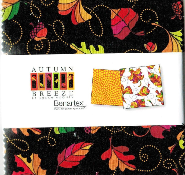 "Autumn Breeze - Charm Pack (42) 5"" squares - Benartex - Collection by Susan Rooney - RebsFabStash"