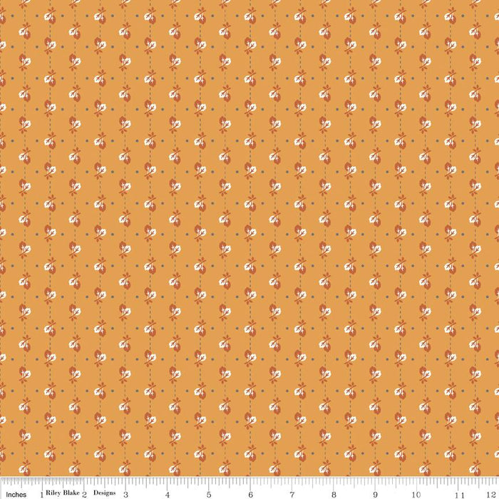 Autumn Love by Lori Holt - per yard - Riley Blake - Orange Plaid C7364 - RebsFabStash