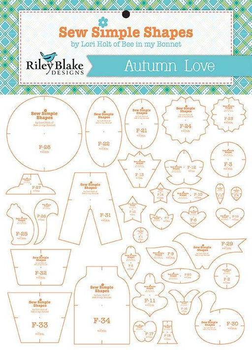 Autumn Love - Sew Simple Shapes Quilt TEMPLATES - Lori Holt for Riley Blake - Sew Along - Begins August 20 They're here! ORDER NOW - RebsFabStash