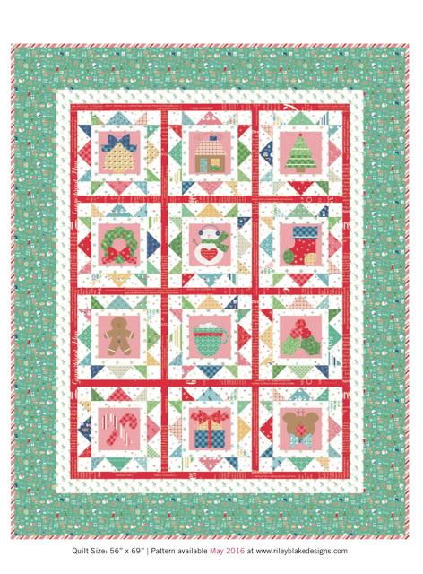 AVAILABLE NOW! Cozy Christmas Quilt Kit by Lori Holt - Riley Blake Designs - Uses her Cozy Christmas Fabric - RebsFabStash