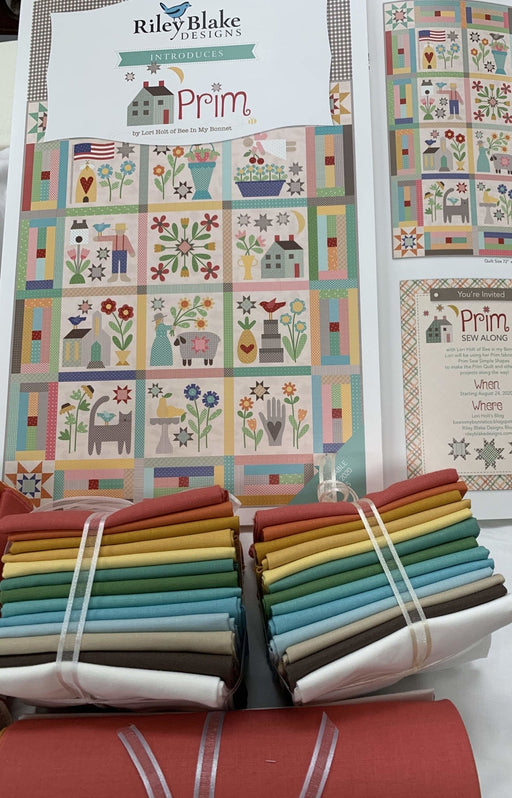 "Available Now! - PRIM SOLIDS Fat Quarter Bundle (15) 18"" x 22"" pieces - Lori Holt - Riley Blake - Confetti Cotton Solids - RebsFabStash"