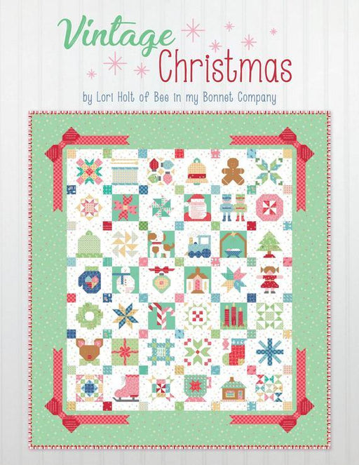 AVAILABLE NOW!! Vintage Christmas Sampler PATTERN BOOK ONLY by Lori Holt - Riley Blake Designs - Uses her Cozy Christmas Fabric - RebsFabStash