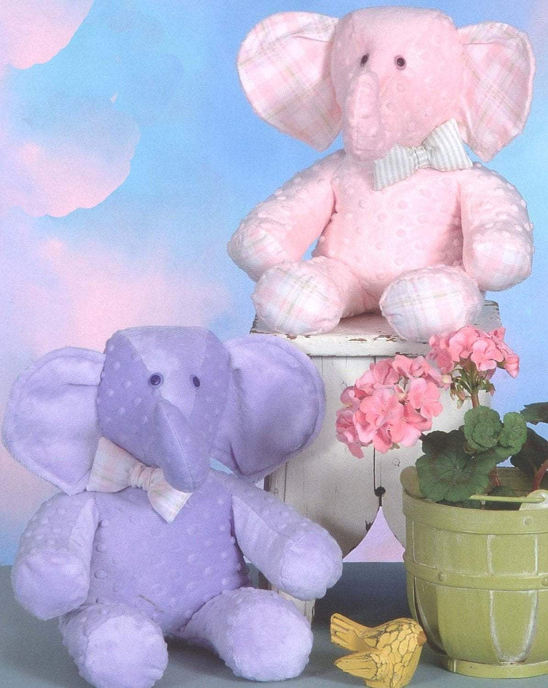 Baby Elephant - Plush or stuffed animal - by Cotton Ginnys - These would make adorable gifts! Uses Cuddle or Minkie fabric! - RebsFabStash