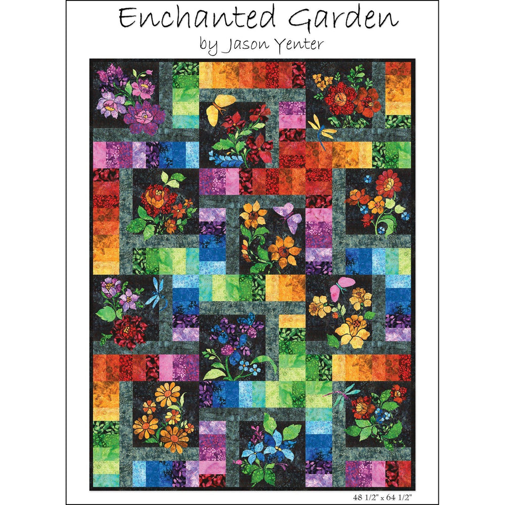 BACK IN STOCK NOW!! - Floragraphix Batiks 4 - Enchanted Garden Block of the Month Quilt Kit - Jason Yenter - In the Beginning Fabrics-applique - RebsFabStash