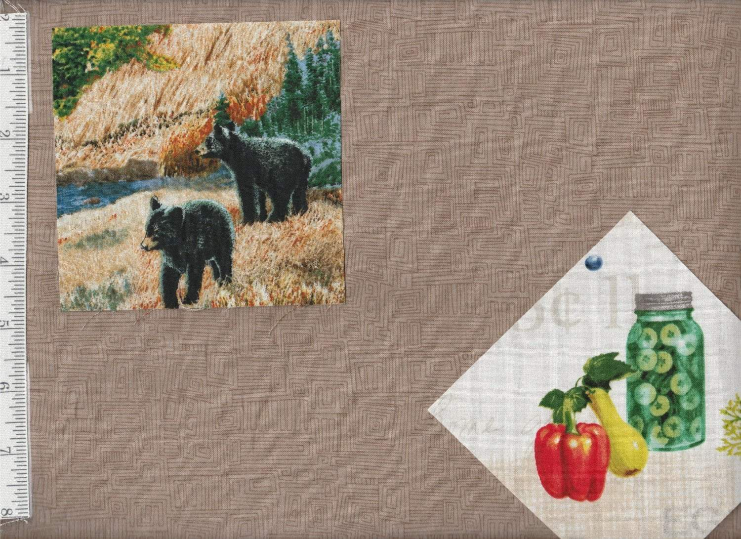 Bear Essentials - per yard - P&B Textiles - Tan - Color # 667 - RebsFabStash