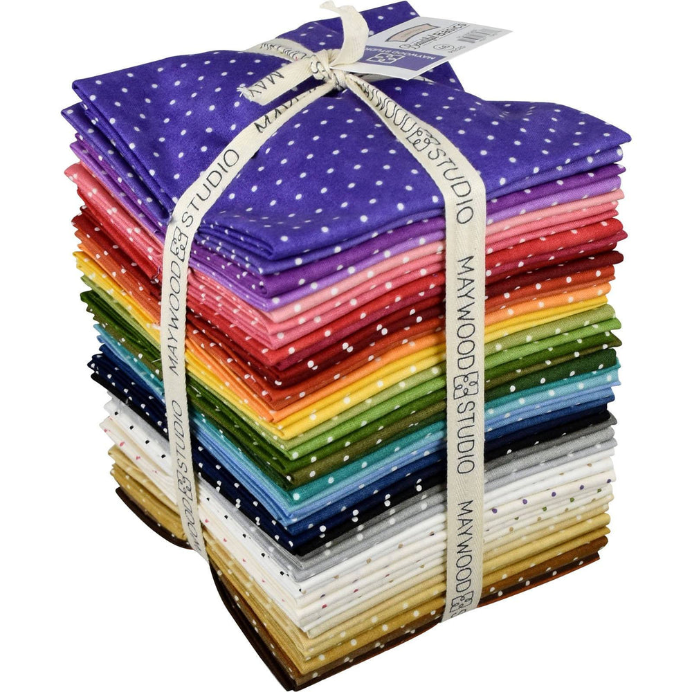 Beautiful Basics - Fat Quarter Bundle (46) - Classic Dot - quilt fabric, tonal, blender, rainbow colors - C - RebsFabStash