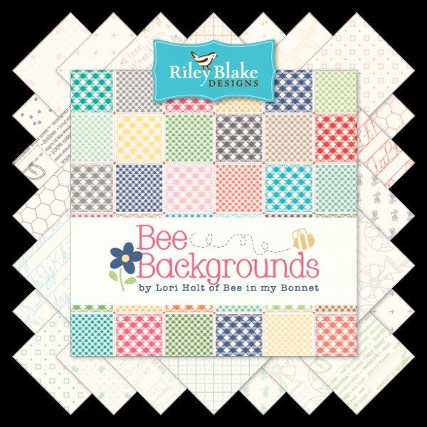 "Bee Backings! - Quilt Back Fabric - Per Yard - Riley Blake - by Lori Holt - 108"" wide Bandana Green WB6420 - RebsFabStash"