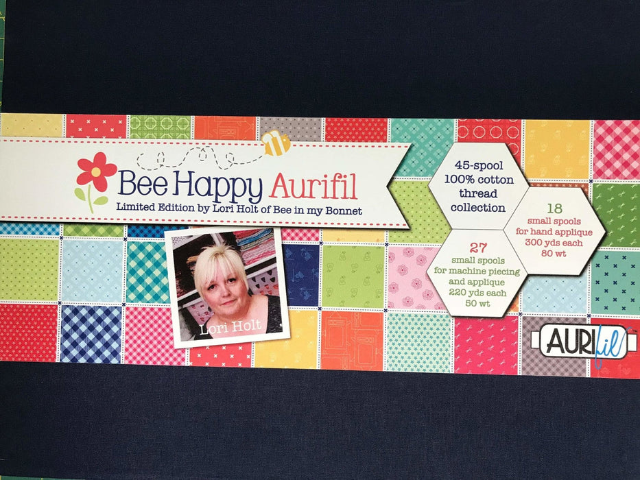 Bee Basics Aurifil - Lori Holt - Riley Blake - Bee in my Bonnet - LIMITED EDITION! Includes 45 spools for hand applique and machine piecing! - RebsFabStash
