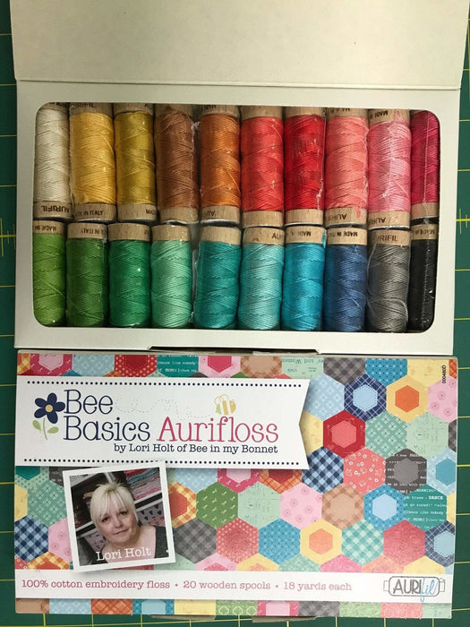 Bee Basics Aurifloss by Aurifil - Lori Holt - Riley Blake Designs - Bee in my Bonnet - 20 spools 18 yards each Embroidery Floss - RebsFabStash