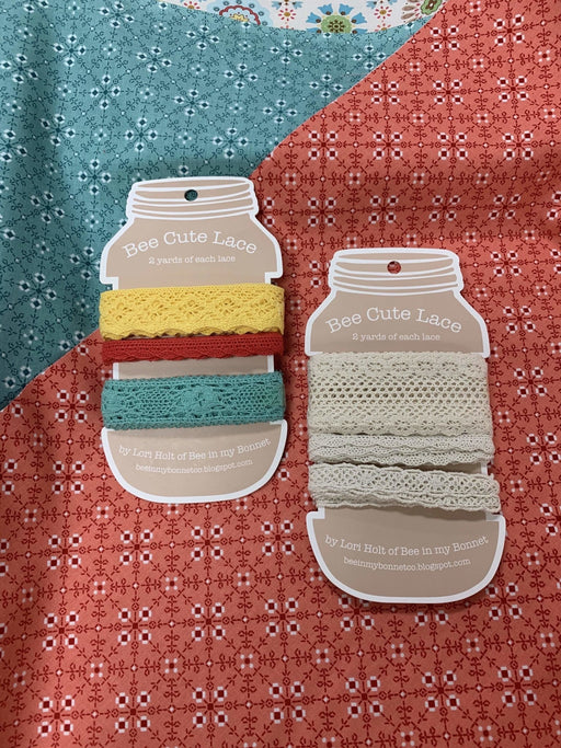 Bee Cute Lace - Lori Holt for Riley Blake Designs - Use for her Sew Alongs - They're here!! - RebsFabStash