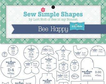 Bee Happy Sew Simple Shapes - Lori Holt for Riley Blake Designs - Bee Happy Quilt Along - RebsFabStash