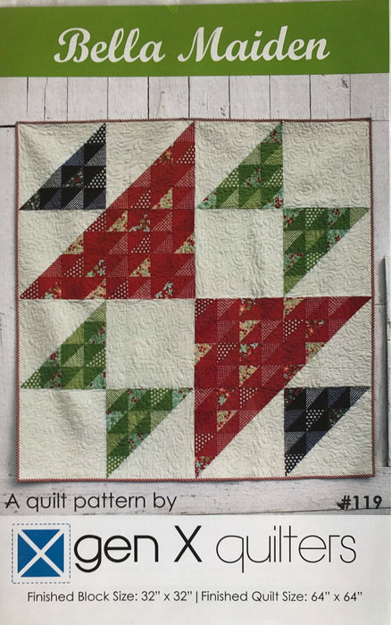 Bella Maiden - A quilt pattern by genX quilters - designed by AnneMarie Chany - Wall hanging or quilt - Fat Quarter Friendly! - RebsFabStash