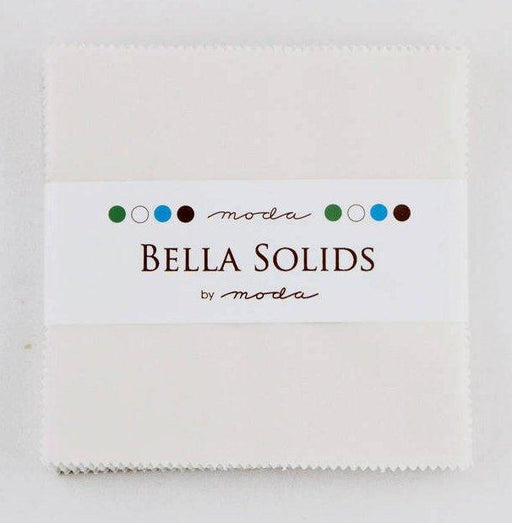 "Bella Solids - Charm Pack - Moda - (42) 5"" Squares - Feather # 127 - RebsFabStash"
