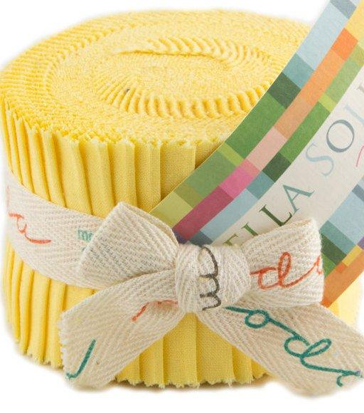 "Bella Solids - Jr Jelly Roll - Moda - (20) 2.5"" Strips - 30's Yellow # 23 - RebsFabStash"