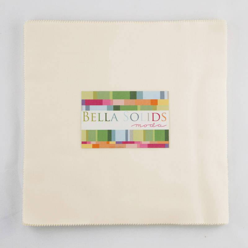 "Bella Solids - Jr Layer Cake - Moda - (20) 10"" Squares - Ivory #60 - RebsFabStash"