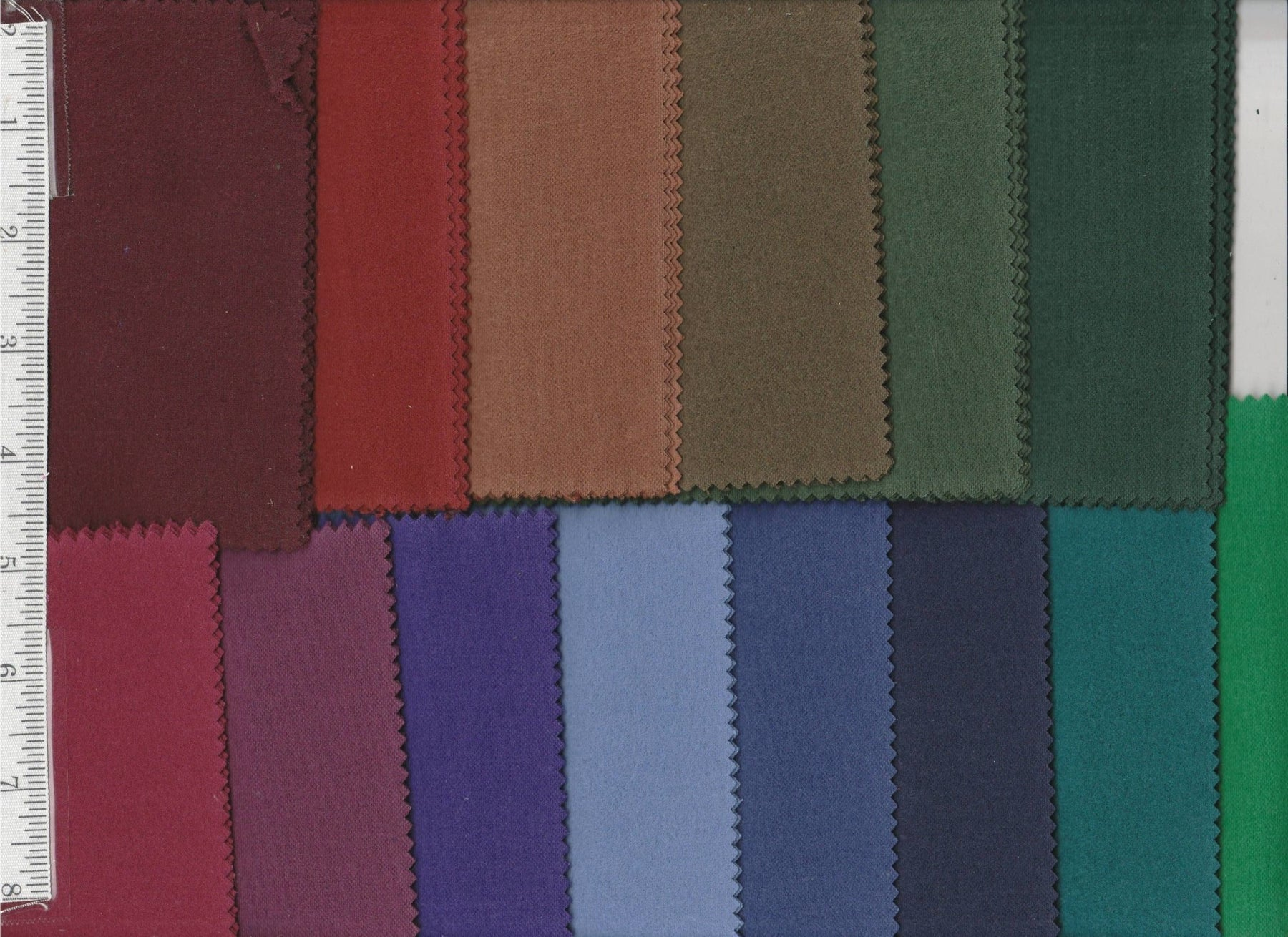 Benartex FLANNEL - Charm Pack - Basic Solids - RebsFabStash